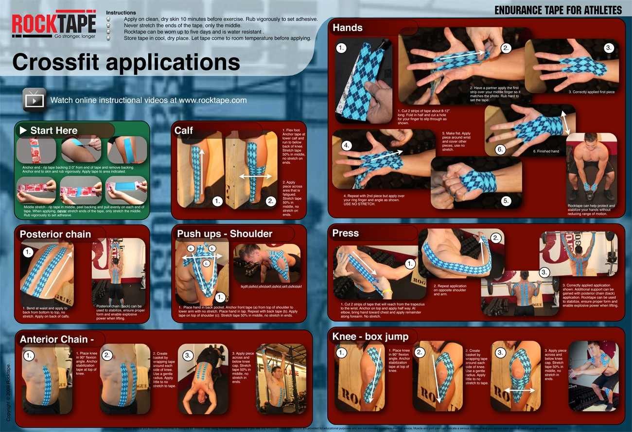 rocktape kinesio taping chiropractor physical therapy rehab
