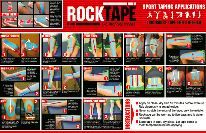 rocktape taping application st petersburg fl chiropractor